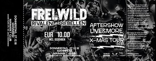 Frei.Wild, 27.12.2018 - R&R LIVE&MORE X-MAS Aftershow Party, Mannheim [DE], Maimarkt Club