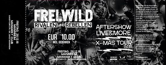 Frei.Wild, 28.12.2018 - R&R LIVE&MORE X-MAS Aftershow Party, Mannheim [DE], Maimarkt Club