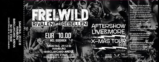 Frei.Wild, 29.12.2018 - R&R LIVE&MORE X-MAS Aftershow Party, Hamburg [DE], On Stage