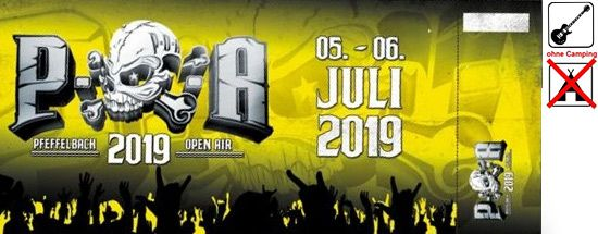 POA Pfeffelbach, WE Ticket (exkl. Camping), 05.-06.07.2019