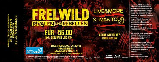 Frei.Wild, 27.12.2018 - R&R LIVE&MORE X-MAS Tour, Mannheim [DE], Maimarkthalle