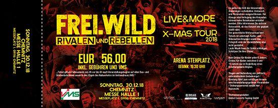 Frei.Wild, 30.12.2018 - R&R LIVE&MORE X-MAS Tour, Chemnitz [DE], Messe Halle 1