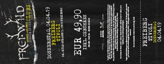 Frei.Wild, 04.04.2019 - Zurück in die CLUBS Tour 2019, Freiberg [DE], Tivoli