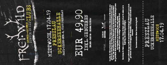 Frei.Wild, 17.04.2019 - Zurück in die CLUBS Tour 2019, Prenzlau [DE], Uckerseehalle (Sporthalle)