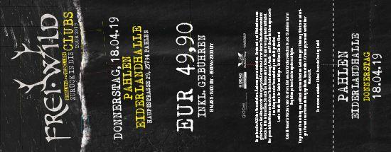 Frei.Wild, 18.04.2019 - Zurück in die CLUBS Tour 2019, Pahlen [DE], Eiderlandhalle