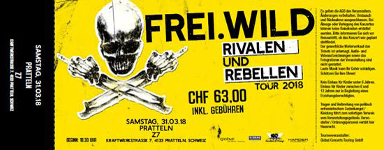 Frei.Wild, 31.03.2018 - Rivalen & Rebellen WarmUp, Pratteln [CH], Z7