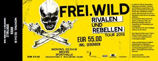 Frei.Wild, 02.04.2018 - Rivalen & Rebellen WarmUp, Brixen [IT], Sporthalle
