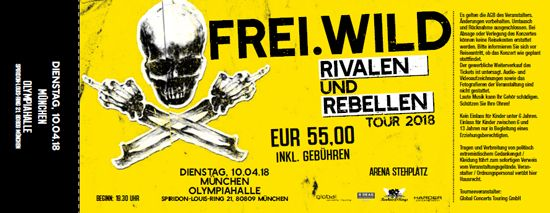 Frei.Wild, 10.04.2018 - Rivalen & Rebellen Arena, München [DE], Olympia Halle