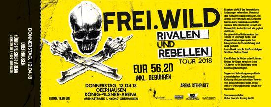 Frei.Wild, 12.04.2018 - Rivalen & Rebellen Arena, Oberhausen [DE], König-Pilsener Arena