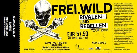 Frei.Wild, 14.04.2018 - Rivalen & Rebellen Arena, Hamburg [DE], Barclaycard Arena