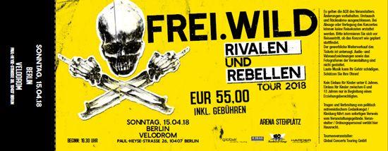 Frei.Wild, 15.04.2018 - Rivalen & Rebellen Arena, Berlin [DE], Velodrom