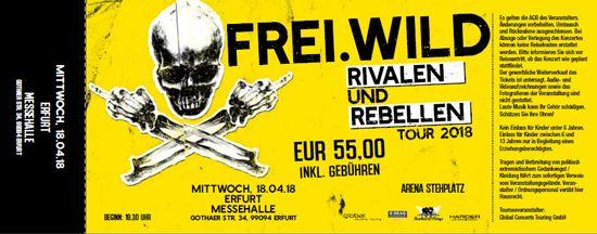 Frei.Wild, 18.04.2018 - Rivalen & Rebellen Arena, Erfurt [DE], Messehalle