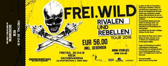 Frei.Wild, 20.04.2018 - Rivalen & Rebellen Arena, Riesa [DE], Riesa Arena