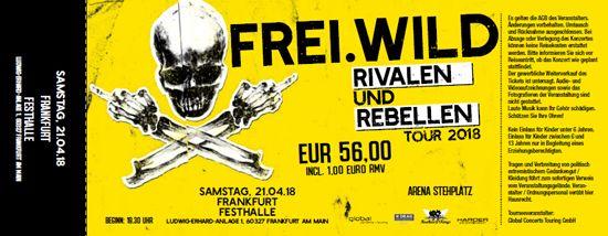 Frei.Wild, 21.04.2018 - Rivalen & Rebellen Arena, Frankfurt [DE], Festhalle