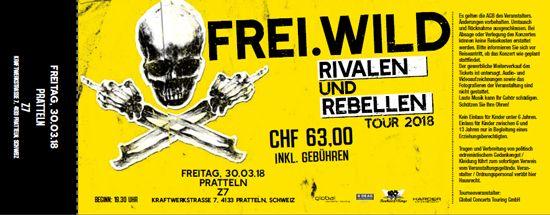 Frei.Wild, 30.03.2018 - Rivalen & Rebellen WarmUp, Pratteln [CH], Z7