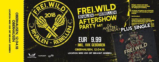 Frei.Wild, 12.04.2018 - Rivalen & Rebellen Aftershow Party, Oberhausen [DE]