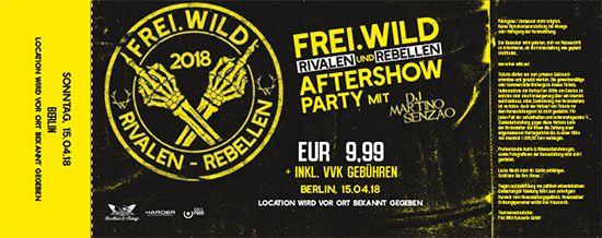 Frei.Wild, 15.04.2018 - Rivalen & Rebellen Aftershow Party, Berlin [DE]