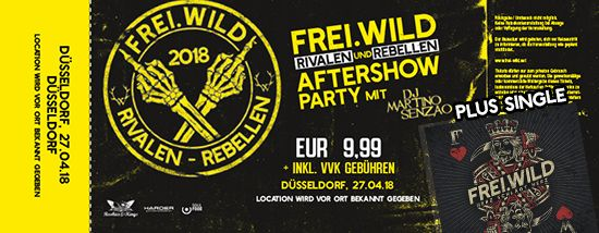 Frei.Wild, 27.04.2018 - Rivalen & Rebellen Aftershow Party, Düsseldorf [DE]